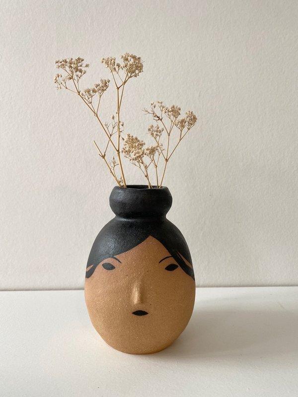 Rami Kim Girl with a Bun Medium Vase - natural/black