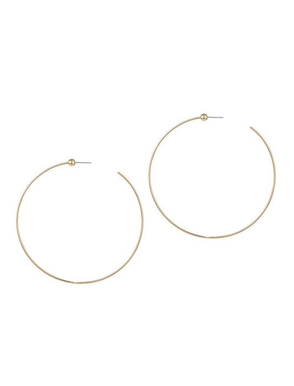 Jenny Bird Medium Icon Hoops - 14K gold-dipped brass