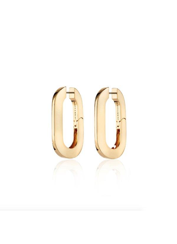 Jenny Bird Mega U-Link Earrings - 14K gold-dipped brass