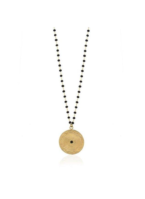 Necklace Blackbead Coin Dante