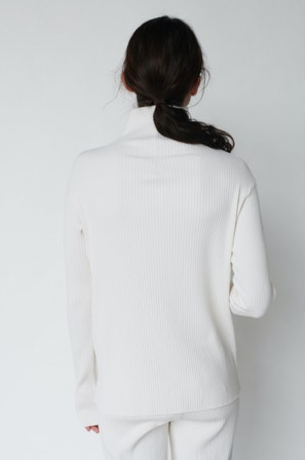 Stateside Ribbed Funnel Neck top