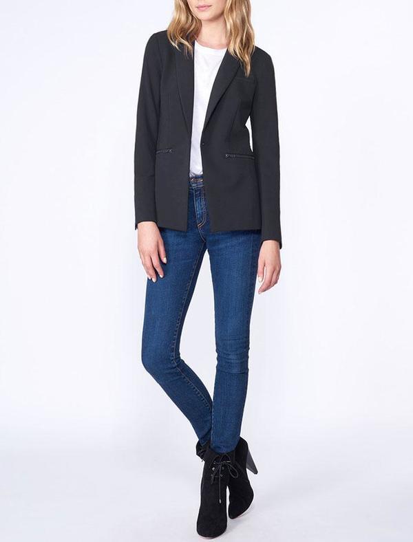 Veronica Beard Scuba Dickey Jacket - Black