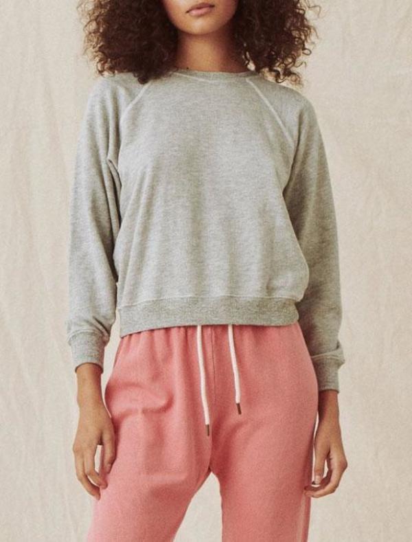 The Great. shrunken sweatshirt - light heather grey