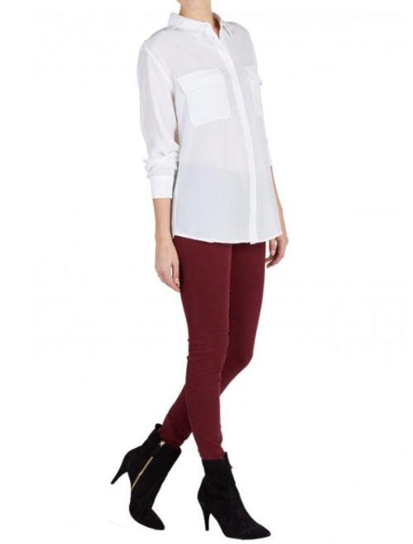 Equipment Signature blouse - bright white