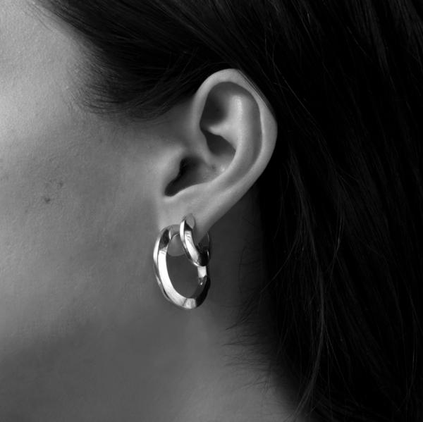 Jenny Bird Toni Hinged Hoop Earrings - Silver