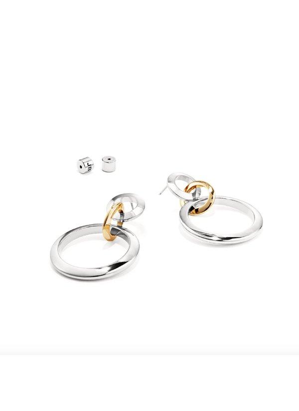 Jenny Bird Trio Drop Links earrings - 14k gold/brass/silver