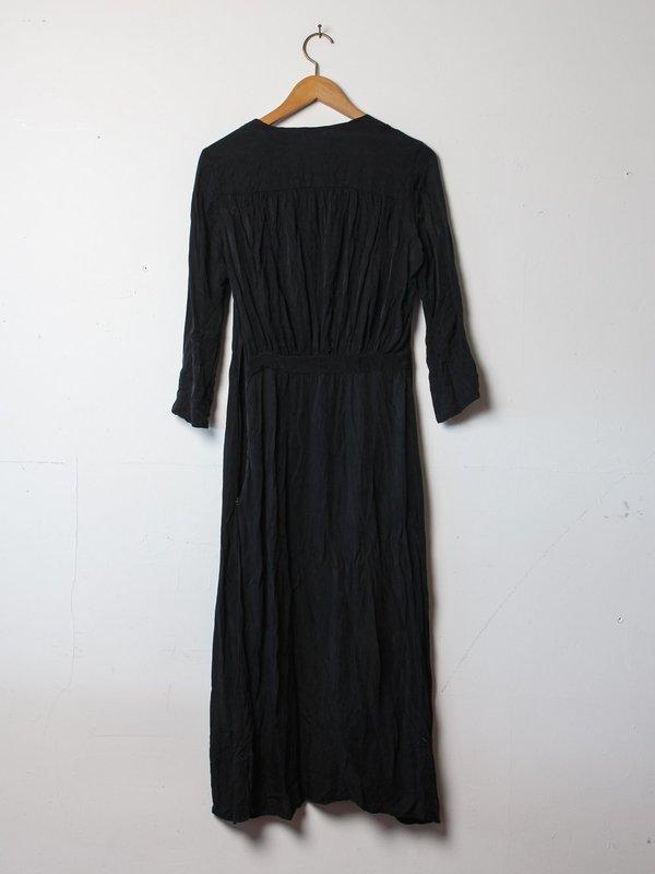 hazel brown ruched shoulder dress - black