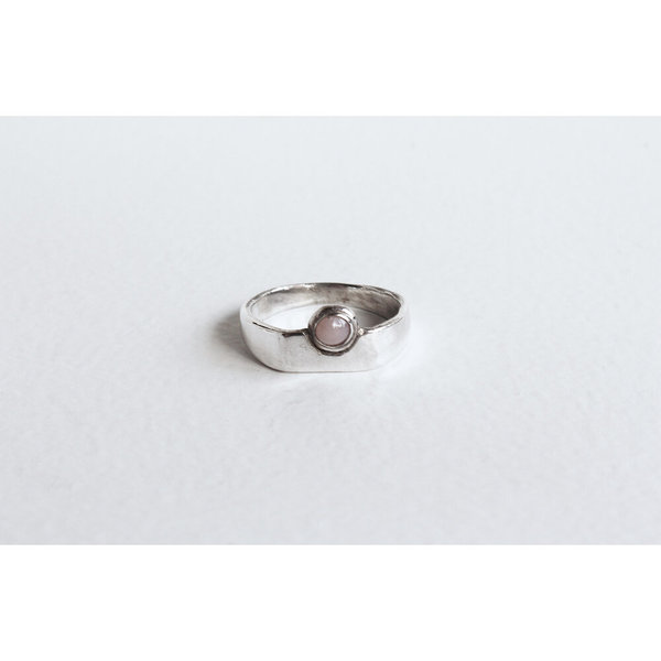 Open House Projects Author Ring - Silver/Pink Opal