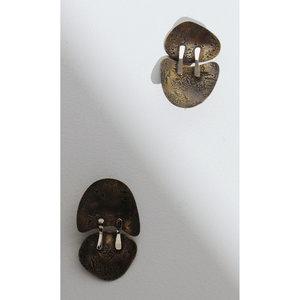 Lauren Manoogian x Erin Considine Moll Earrings - Brass/Silver