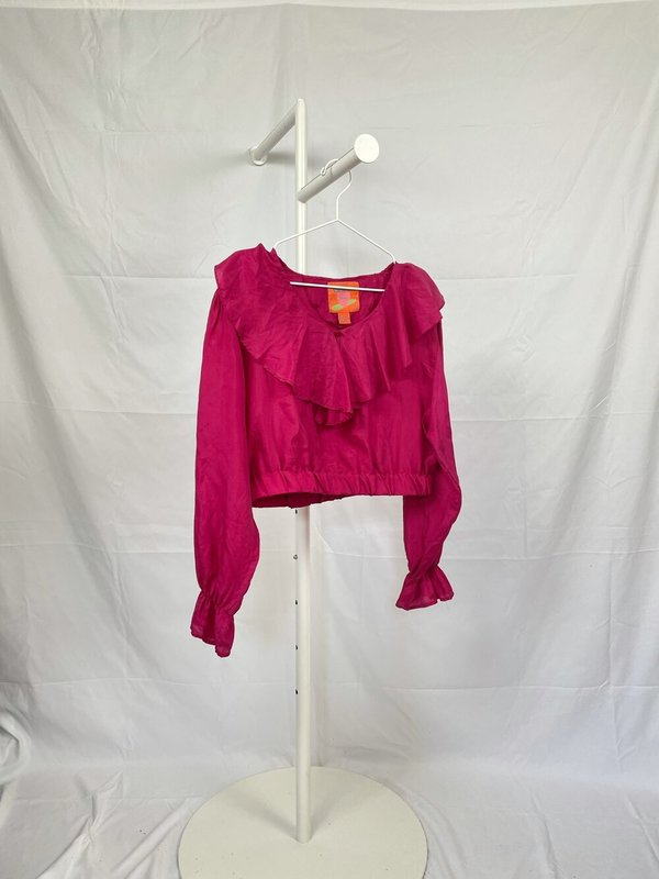 Laurs Kemp Upcycled Silk Poet's Blouse