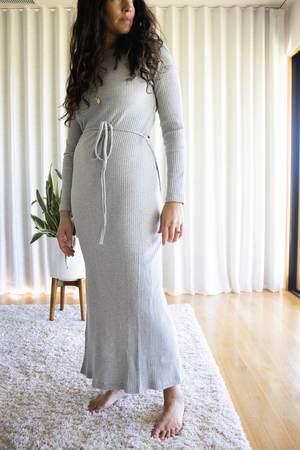 Baserange Brig Dress - Grey Melange