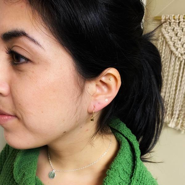 Mini Padlock Hoop Earrings in 14 Karat Gold Fill