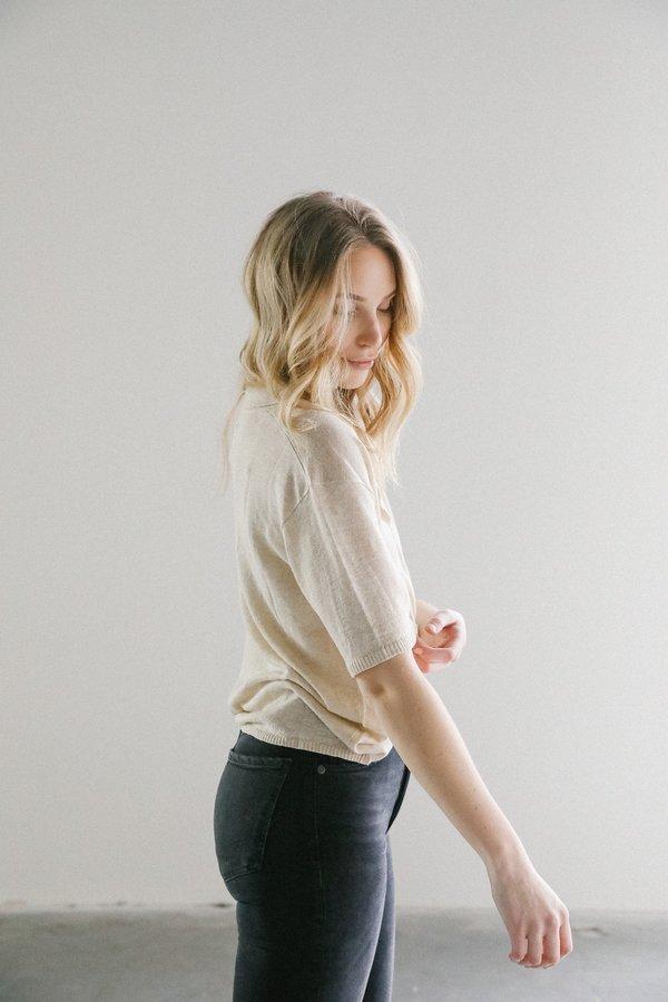 Rowie Harper Knit Shirt in Paperark