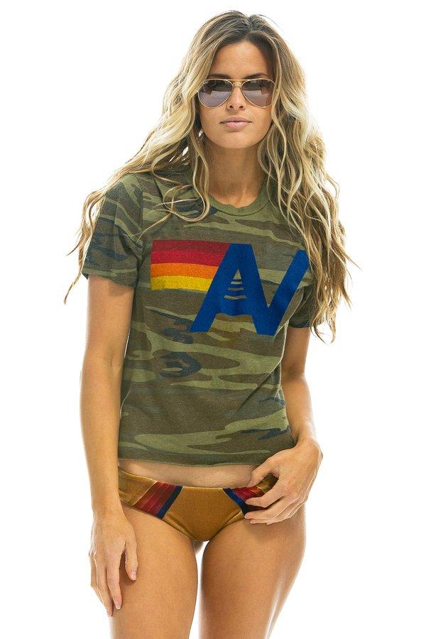 Aviator Nation Logo Boyfriend Tee - Camo