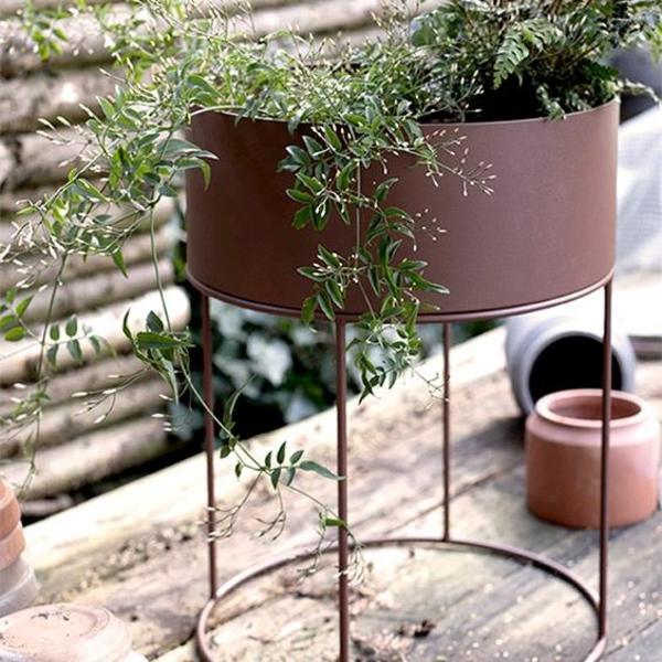 Plant Box Round - Dark Green