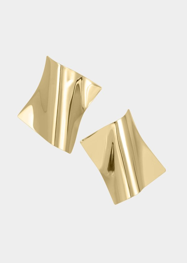 Architect Square Earrings | Bronze 14K