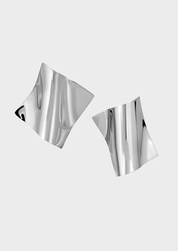 Architect Square Earrings | Sterling Silver