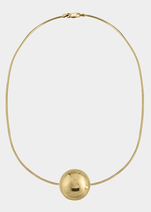 Modern Weaving Simple Sphere Necklace - Sterling Silver/14K Gold Vermeil