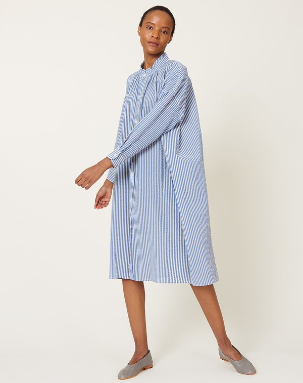 Caron Callahan Aurora Dress - Blue Stripe Gauze