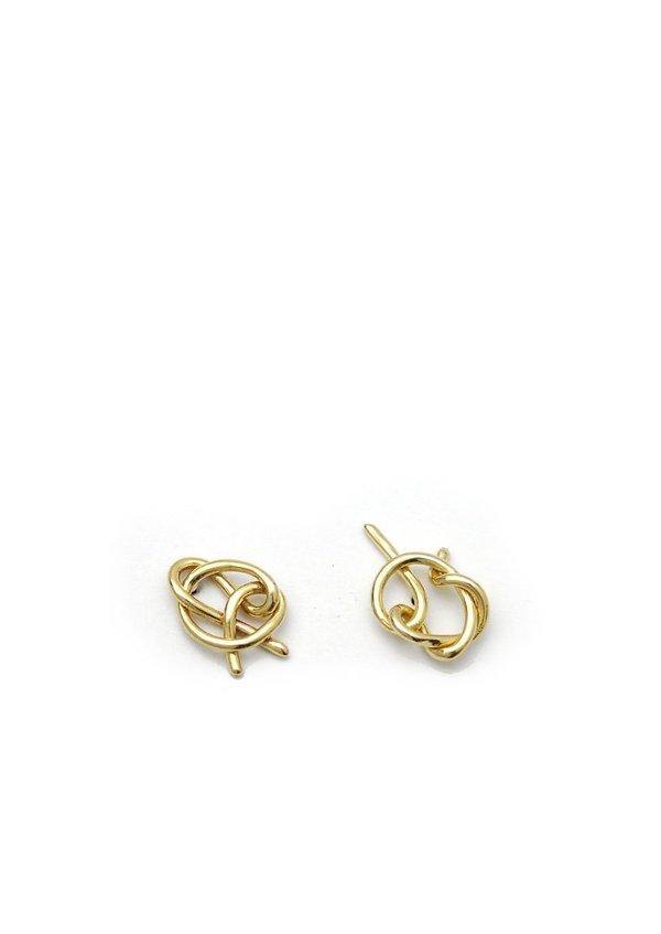 Knot Studs // Brass // No. 1