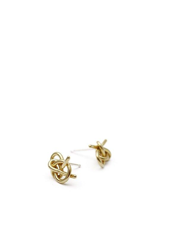 Knot Studs // Brass // No. 3