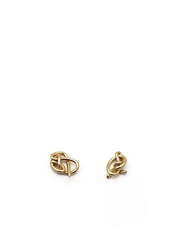 Knot Studs // Brass // No. 4