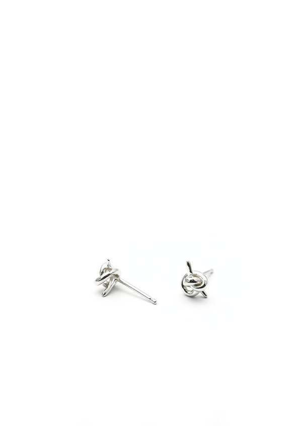 Tiro Tiro Tiny Knot Studs - Sterling Silver
