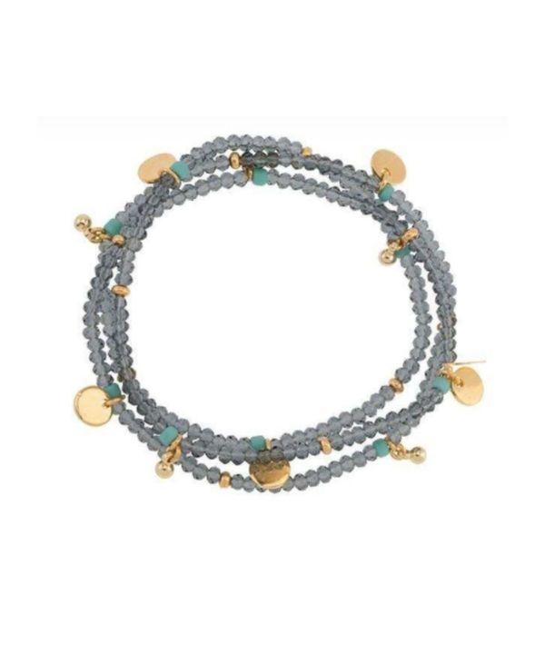 Shashi Eliza Crystal Stretch Bracelet  - Mr. Grey