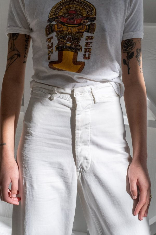 WHITE SAILOR DUNGAREES