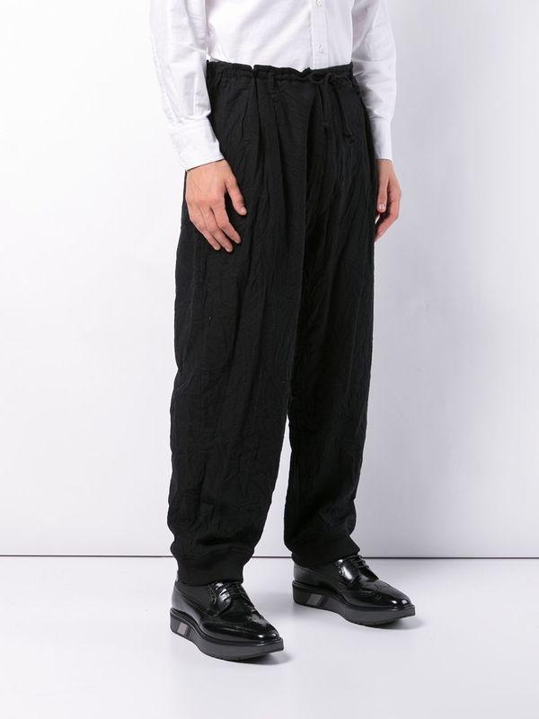 Black Bottom Ribbed Pant
