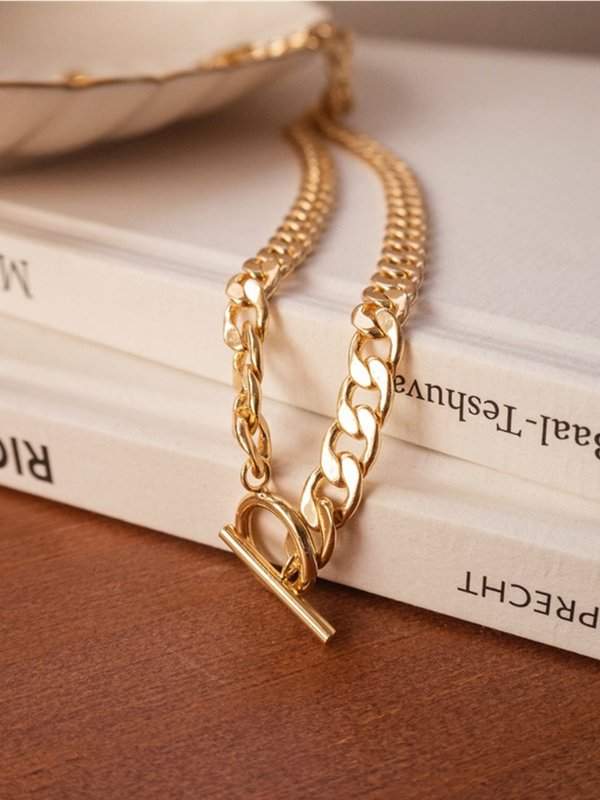 Five and Two Britt Necklace - 14k gold plated