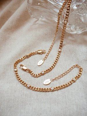 Five and Two Gwen Necklace - 14k gold
