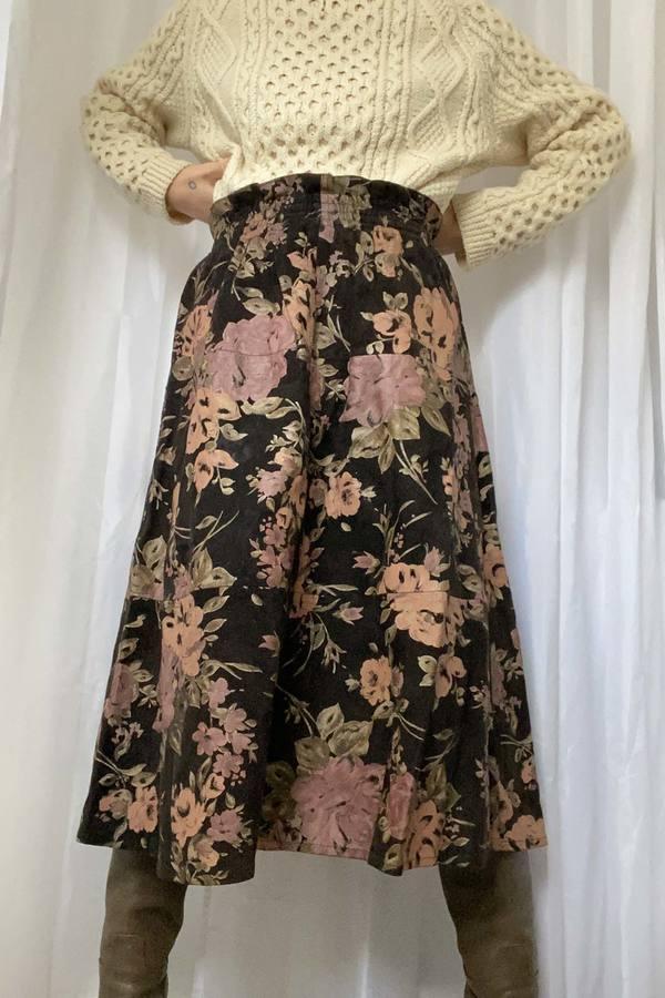 Vintage Roberto Cavalli Suede Skirt