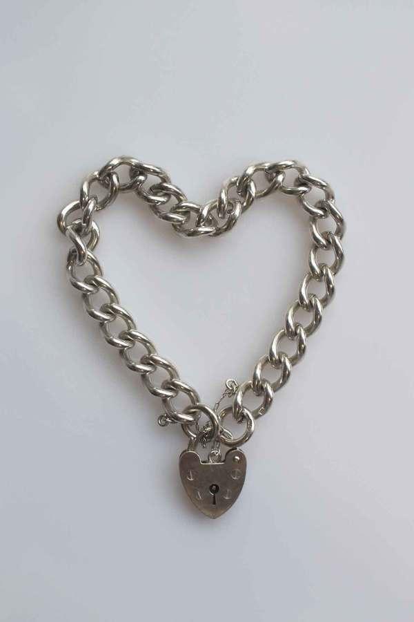 Vintage Heart Bracelet - Sterling Silver