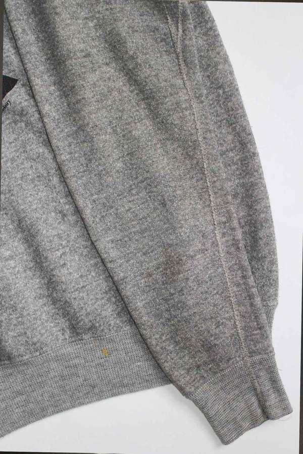 Vintage Chopin Print Sweatshirt - Gray