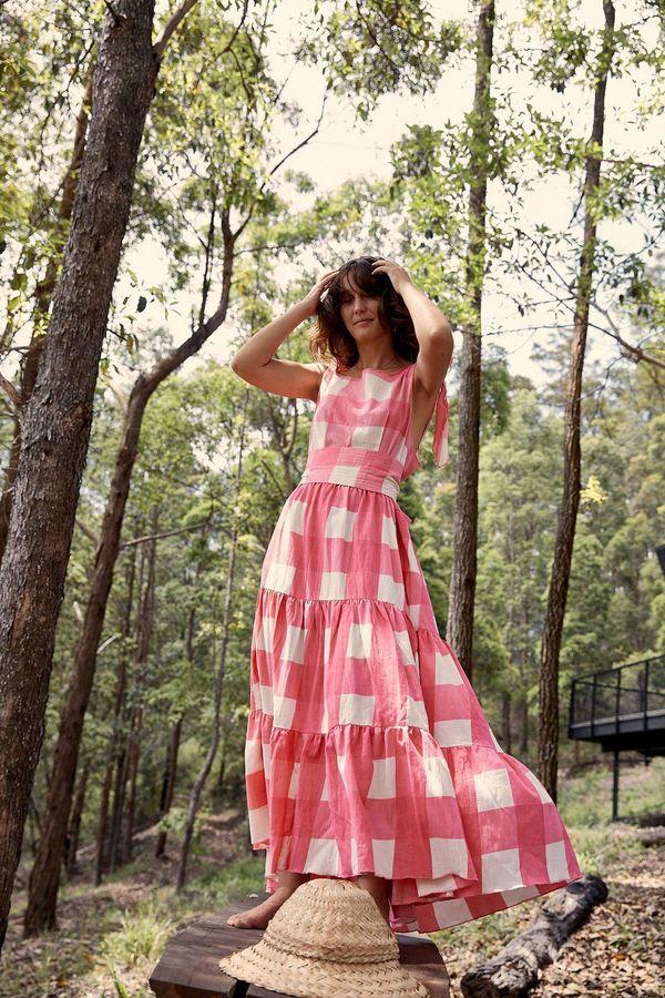 Little Tienda Luana Dress - Pink/Lemonade