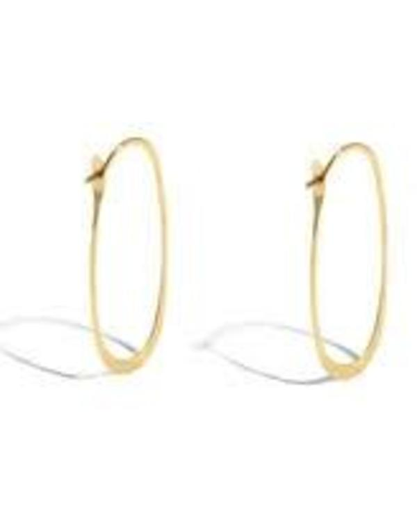 Melissa Joy Manning 14K Yellow Gold Elliptical Hoop - Gold