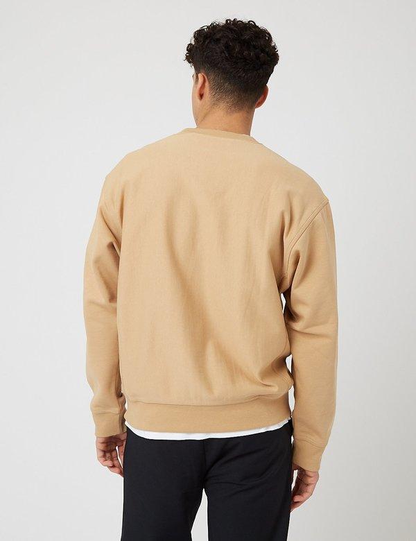 Carhartt-WIP American Script Sweatshirt - Dusty Hamilton Brown