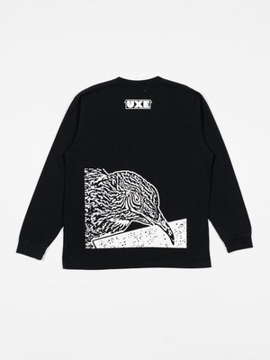 UXE MENTALE Non Art Reality LS Tee - Washed Black