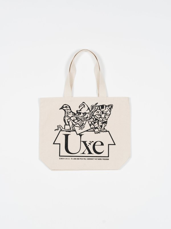 UXE MENTALE Pen Pals Tote Bag - Natural