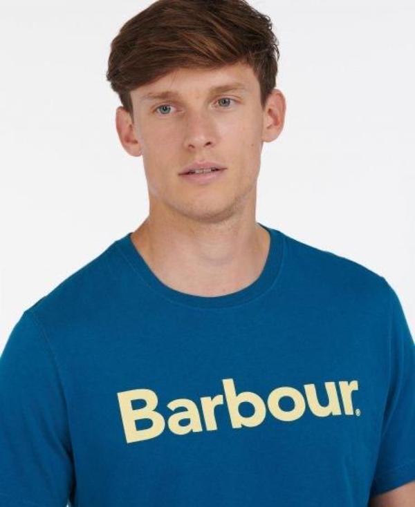 Barbour Logo T-shirt - Lyons Blue