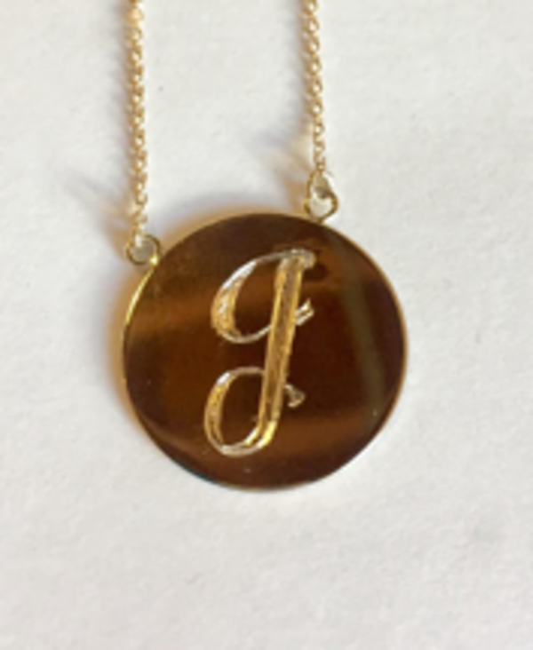 "The Thorny Roses: 14K Gold ""J"" Initial Necklace"