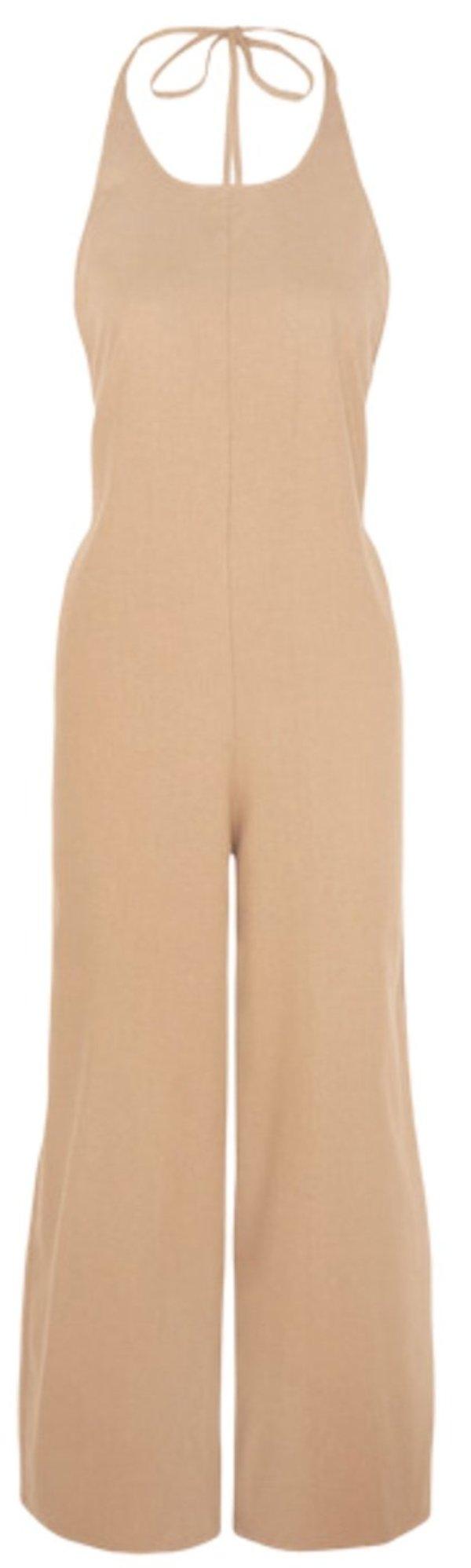 Baserange Otay Raw Silk Jumpsuit - Bath Brown