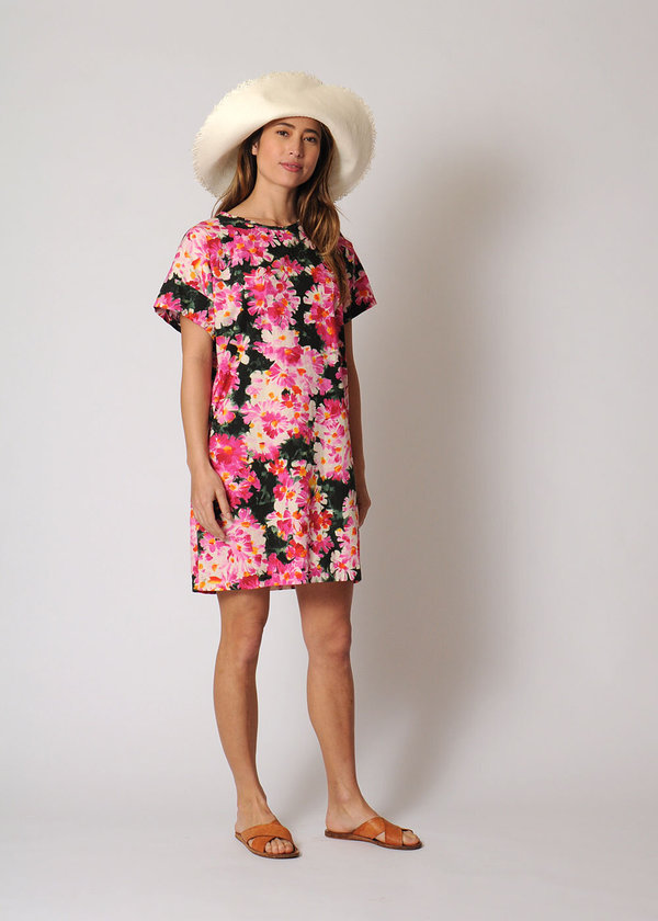Conifer Mini Pullover Dress - Floral