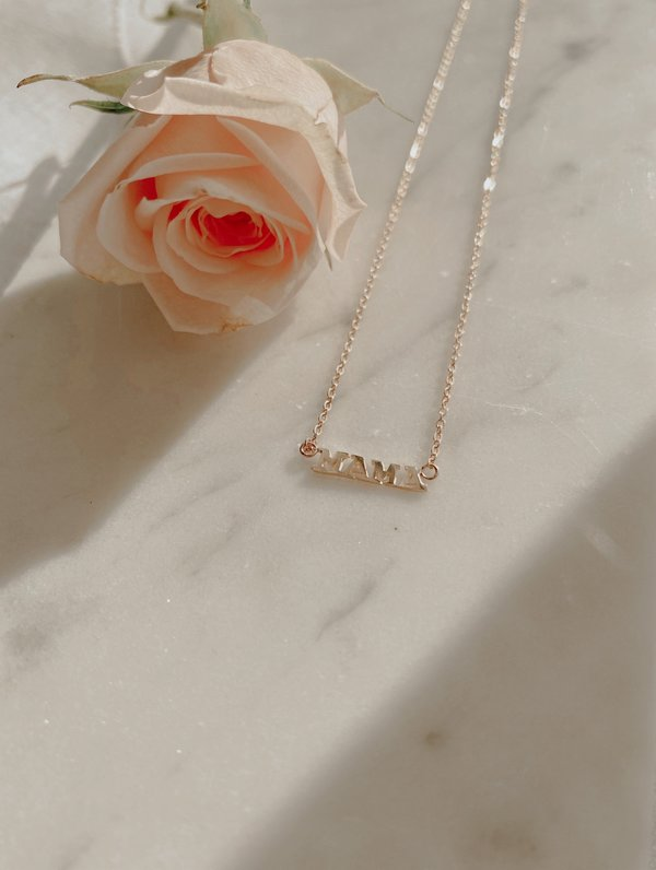 The Thorny Roses MAGIC/MAMA/BADASS Necklace - 14K Gold