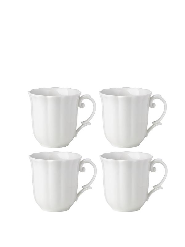 Lenox Butterfly Meadow 4Pc White Dessert Mug
