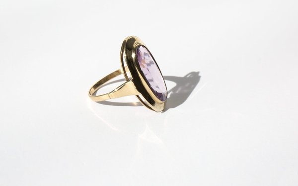 Kindred Black The Ever-Fixed Mark ring - 8k gold