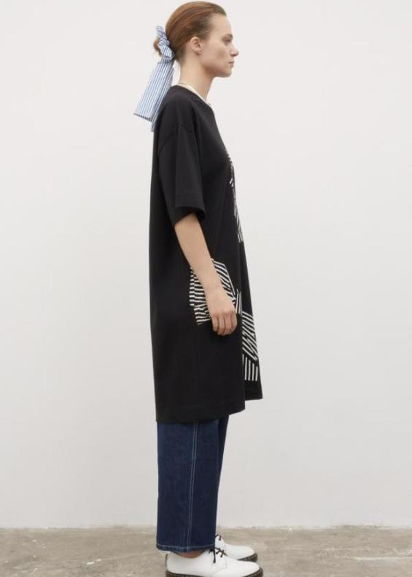 Bow Print Dress - Black