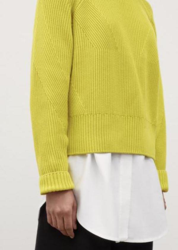 Henri Crew Sweater - Acid Yellow