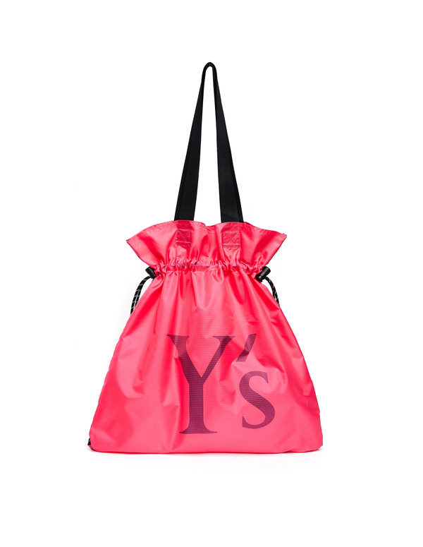 Y's Ripstop Nylon Logo Knapsack bag - Pink